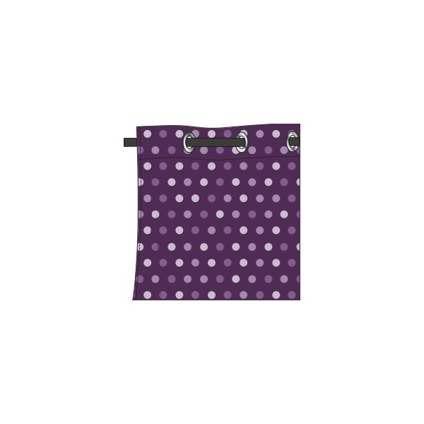 rideau motif confetti mauve glycine deco tissus. Black Bedroom Furniture Sets. Home Design Ideas