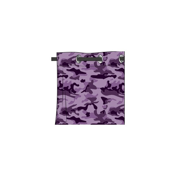rideau motif camouflage mauve glycine deco tissus. Black Bedroom Furniture Sets. Home Design Ideas