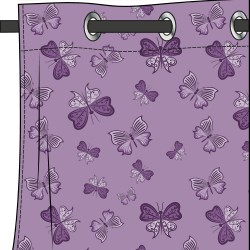 rideau motif papillon mauve glycine deco tissus. Black Bedroom Furniture Sets. Home Design Ideas
