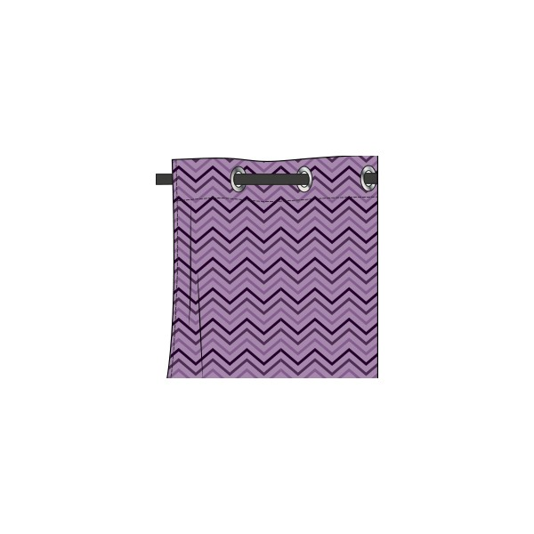 rideau motif chevrons mauve glycine deco tissus. Black Bedroom Furniture Sets. Home Design Ideas