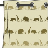 Rideau Motif Safari Marron Jungle Deco Tissus