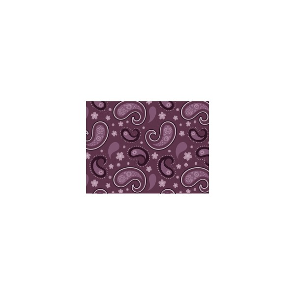 Set de table motif cachemire violet ev que deco tissus for Set de table violet