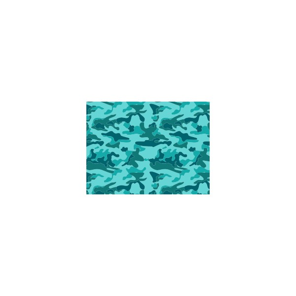 Set de table motif camouflage bleu jade deco tissus for Set de table bleu