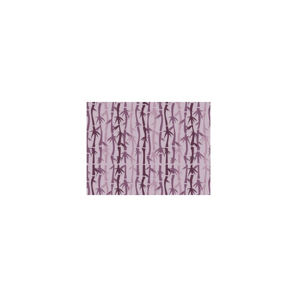 Set de table motif bambou violet ev que deco tissus for Set de table violet