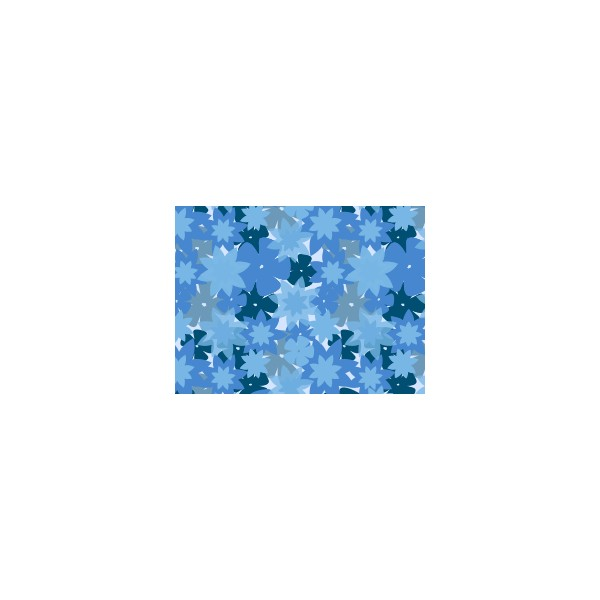 Set de table motif flowers bleu ouessant deco tissus for Set de table bleu
