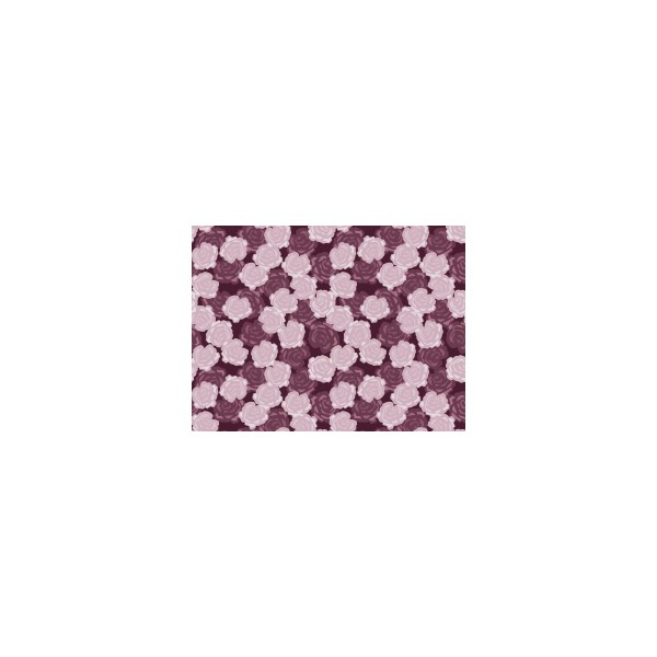 Set de table motif ronsard violet figue deco tissus for Set de table violet