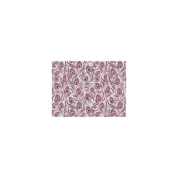 Set de table motif paon violet figue deco tissus for Set de table violet