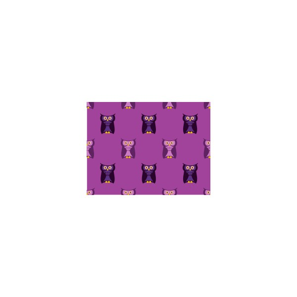 Set de table motif hibou violet deco tissus for Set de table violet