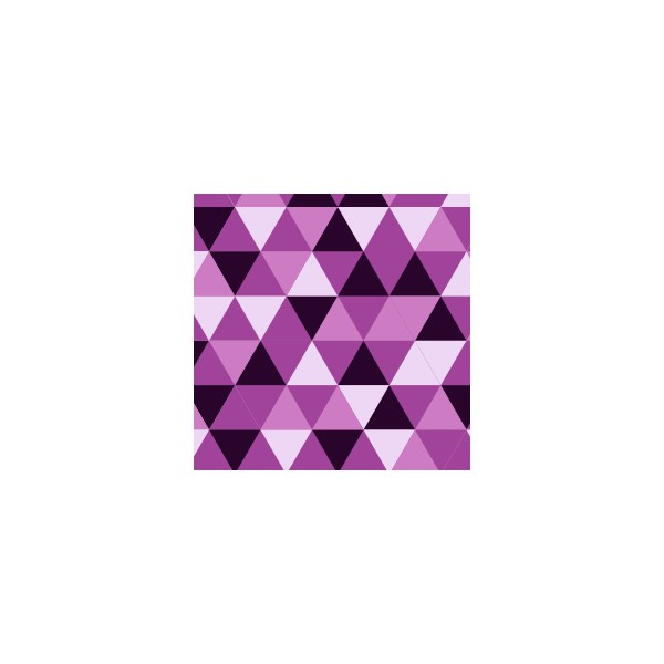 Chemin de table motif triangle mauve deco tissus - Chemin de table lavande ...
