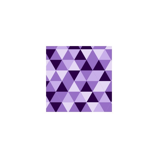 Chemin de table motif triangle violet deco tissus - Chemin de table violet ...