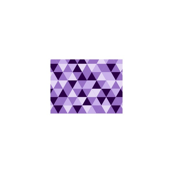Set de table motif triangle violet deco tissus for Set de table violet
