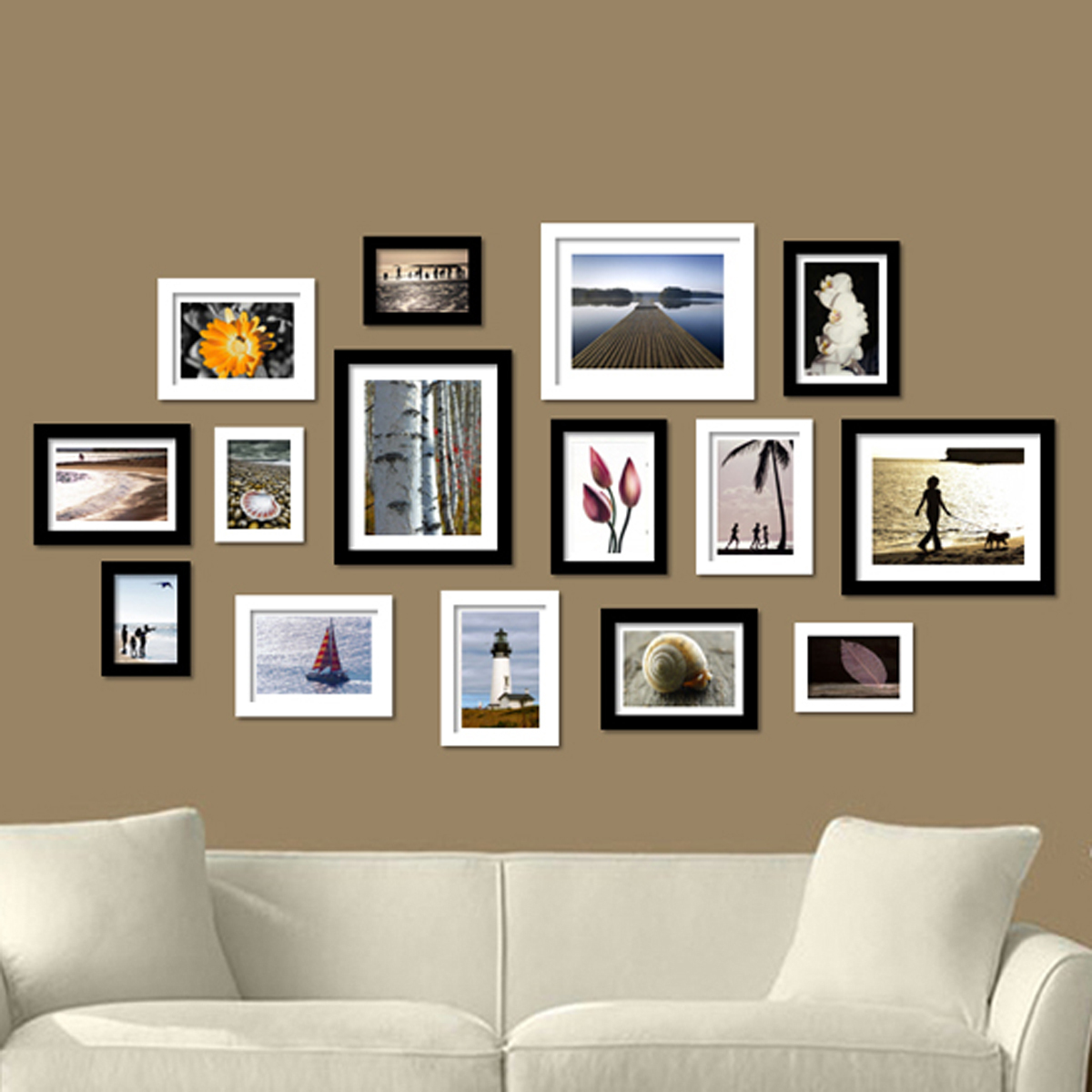 Deco cadres photos mur id es de for Idee deco mur