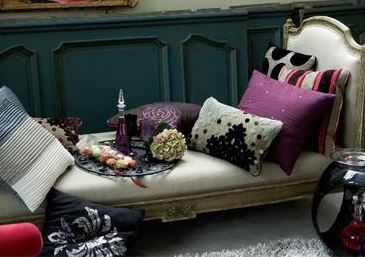 un d co l gante pour un esprit boudoir d co tissus le blog. Black Bedroom Furniture Sets. Home Design Ideas