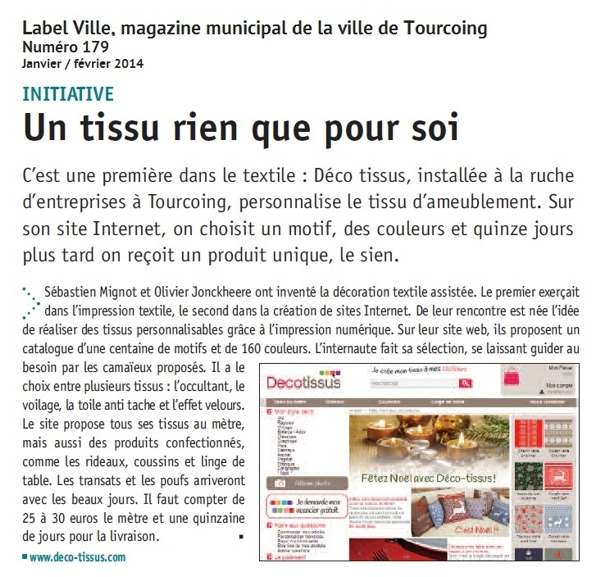 Article Label Ville - Tourcoing janvier2014