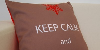 Keepcalm coussin