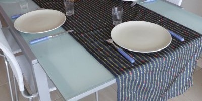 Chenille linge de table
